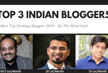 Top 3 Indian Bloggers